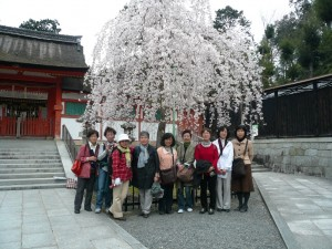 吉田神社にて