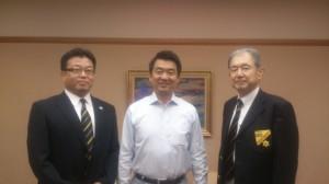 橋下大阪市長(100期) 藤村OB会長 梅本幹事長